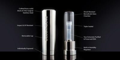 DNA banking memorial capsule